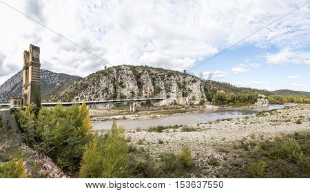 Pont Mirabeau Over Durance River, Provence