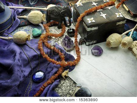 Astrological still life of zodiac symbols - Sagittarius