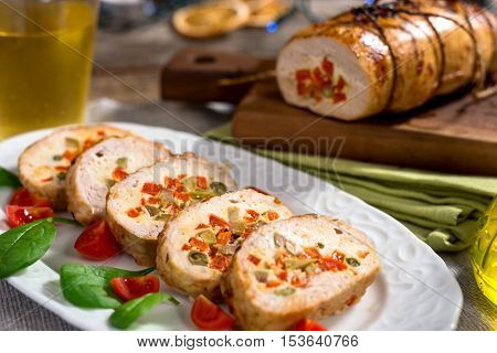 Turkey Breast Stuffed With  Vegetables