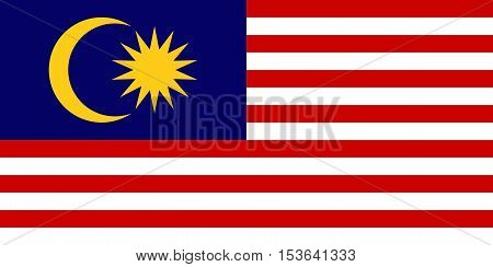 The official vector flag of Malaysia .
