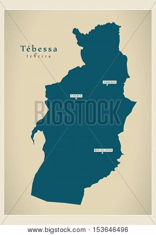 Modern Map Tebessa DZ Algeria Vector Photo Bigstock