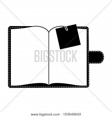 blank notepad icon image vector illustration design