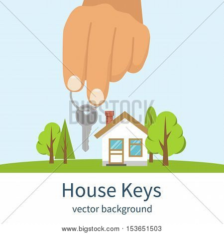 Hand Giving House Keys