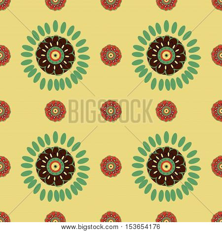 Ethnic Colorful pattern backgrounds. Vector illustration texture.
