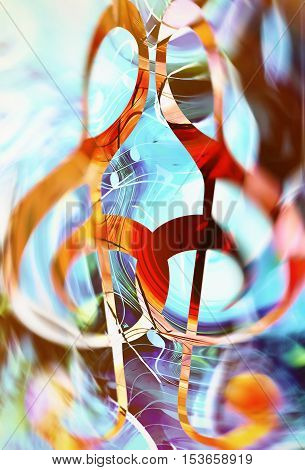 abstract music theme background with clef, modern design