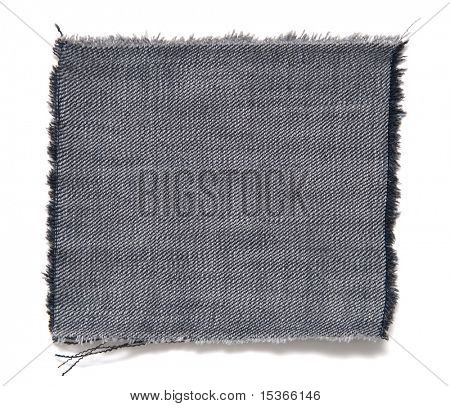Fabric with fringe. Isolated on white with small shadow.