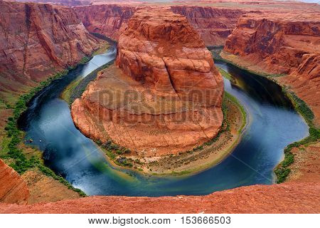 Horseshoe Bend On Colorado River In Glen Canyon, Part Of Grand Canyon