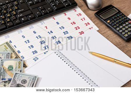calendar and timetable management money and calculator