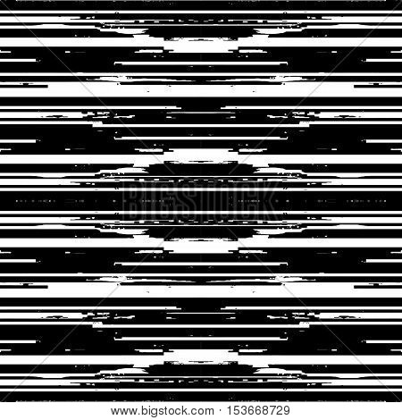 Techno abstract background. Glitch art style. Digital pixel noise. Computer screen signal error. Flow of black white random abstract lines. Element for design concept, poster, web.