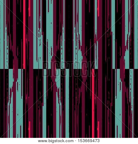 Techno abstract background. Glitch art style. Digital pixel noise. Computer screen signal error. Flow of black and colored random abstract lines. Element for design concept, poster, web.