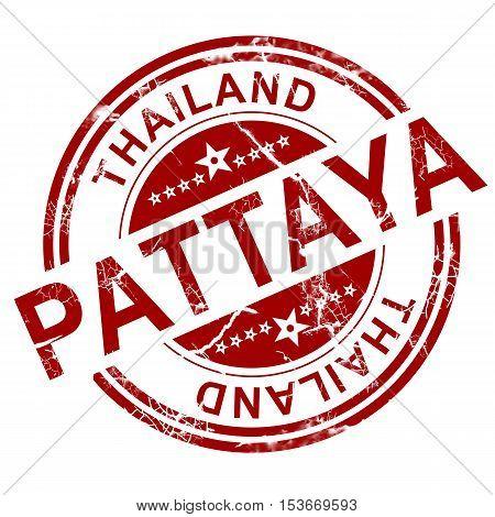 Red Pattaya Stamp