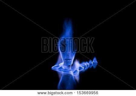 Light Bulb On Fire