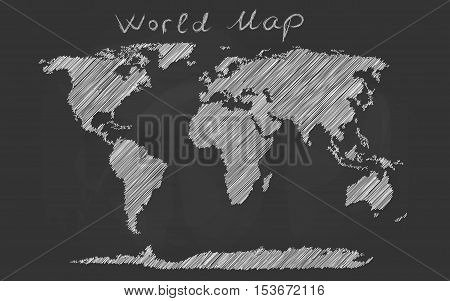 World Map Hand Drawn Vector & Photo (Free Trial) | Bigstock