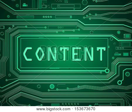 Computer Content Concept.