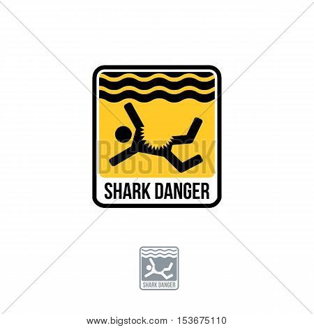 Shark danger flat vector Shark danger icon shark danger icon flat shark danger icon picture shark danger icon vector shark danger icon EPS10.