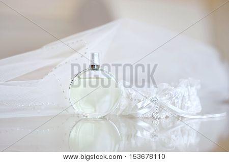 Wedding Veil, Perfume And A Garter