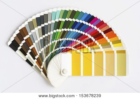 Color Palette Guide Isolated on White Background. Sample Colors Catalog. poster