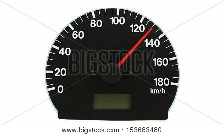 Automotive speedometer - on a white background