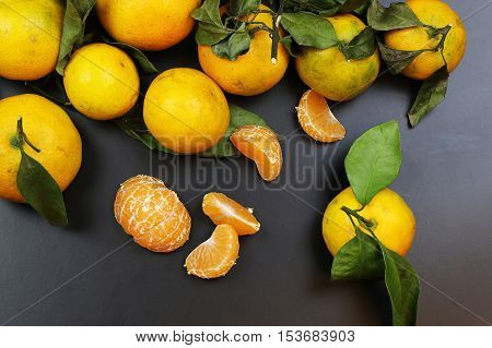 juicy mandarin citrus symbol of the new year coming holidays poster