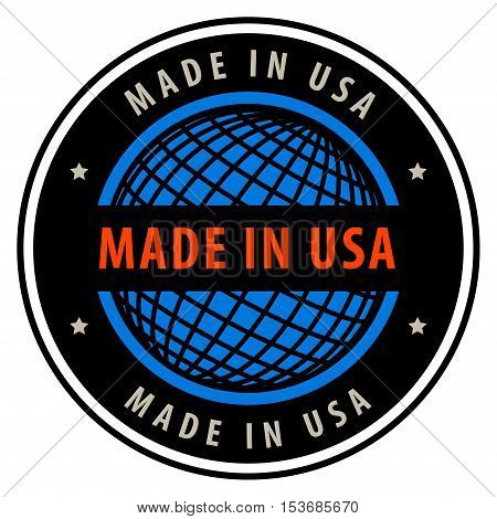Made in USA label or sign, vector illustration