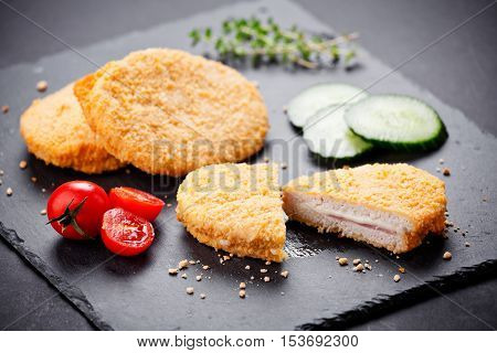 Three Chicken Cordon Bleu