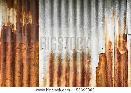 Rusty galvanised iron plate for background and texture material