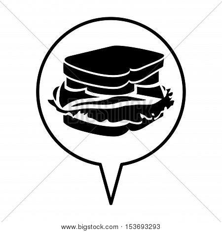 sandwich pictogram icon image vector illustration design