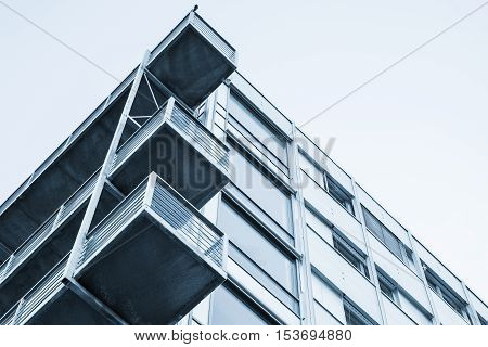 Walls, Balconies, Glass And Concrete