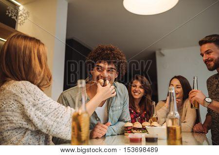 Feeding Her Boyfriend