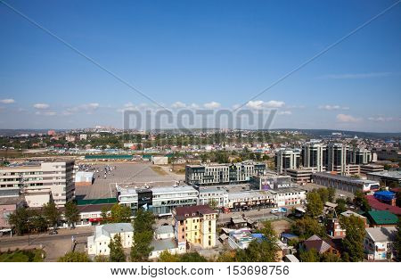 IRKUTSK RUSSIA - 17 SEPTEMBER 2016: Panoramic view of the Irkutsk.