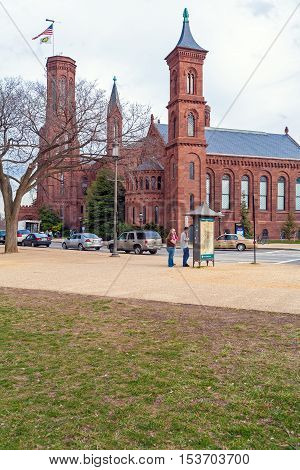 Washington Dc, Usa - January 31, 2006: The Castle, First Smithsonian Institution Building