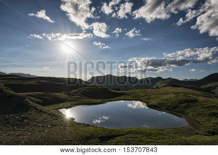 Evening Landscape In The Rocky Mountains, Maroon-snowmass Wilderness