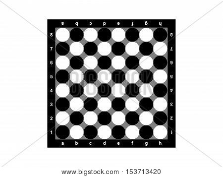The abstract chessboard on a white background