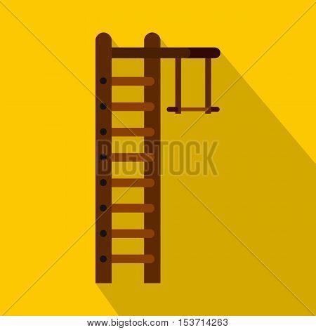 Swedish ladder icon. Flat illustration of swedish ladder vector icon for web
