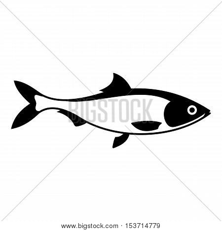 Fish icon. Simple illustration of fish vector icon for web