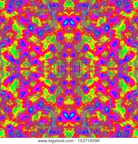Colorful kaleidoscopic positive energetic amazing bright image