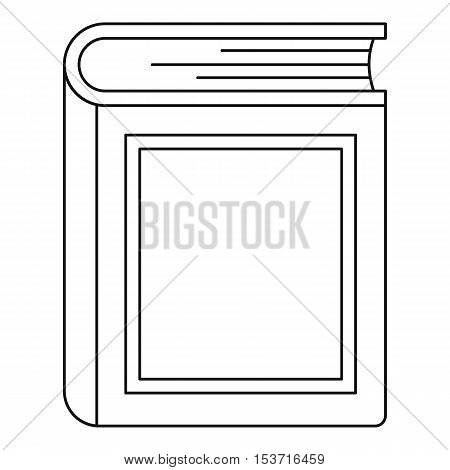 Thick book icon. Outline illustration of thick book vector icon for web