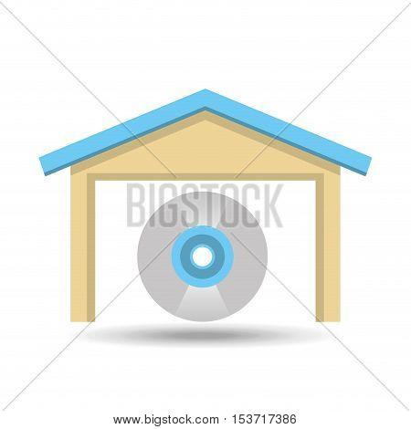 disk data diskette protection design graphic vector illustration