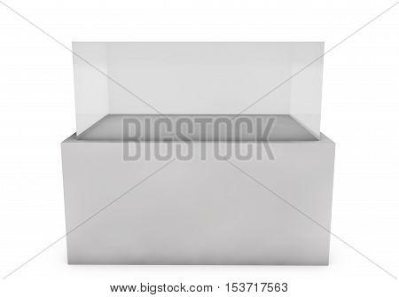 3d render of an empty presentation showase