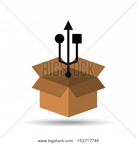symbol USB connection icon design vector illustration