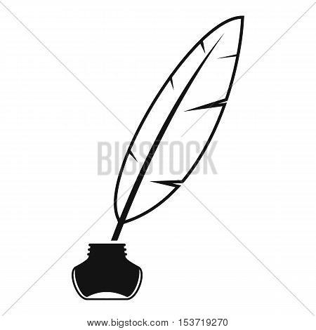 Ink with pen icon. Simple illustration of ink with pen vector icon for web