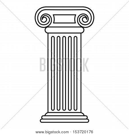 Roman column icon. Outline illustration of roman column vector icon for web