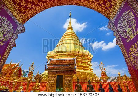 Wat Phra That Doi Suthep the temple in Chiang Mai Popular historical temple in Thailand.
