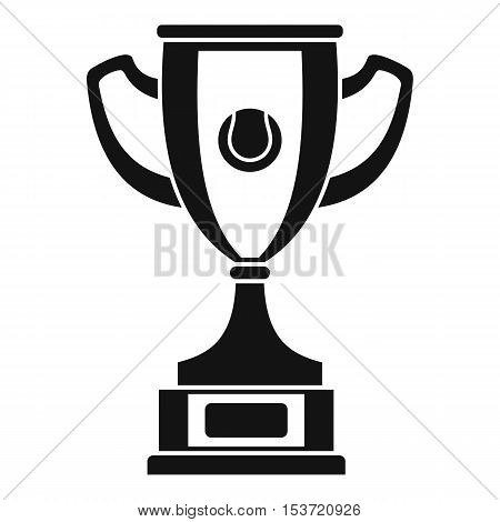 Gold cup icon. Simple illustration of gold cup vector icon for web