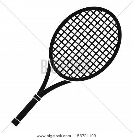 Tennis racket icon. Simple illustration of tennis racket vector icon for web