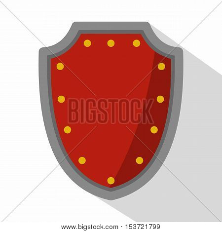 Army protective shield icon. Flat illustration of army protective shield vector icon for web