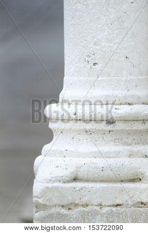 White stone column