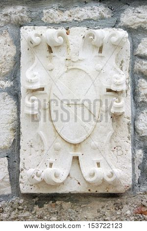 Stone carved panel
