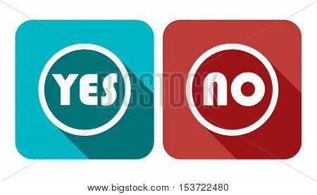 Yes No Vote Vector Banner - Voting Button Vector Icon Set Illustration Stock