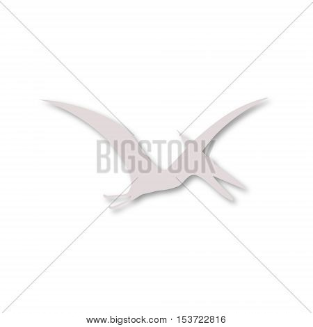 Vector Pterodactyl silhouette icon on white background
